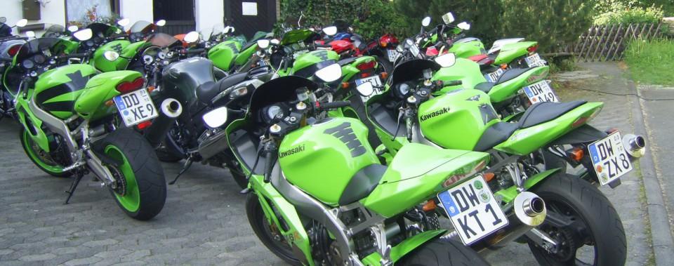 Motorradfahrer sind natürlich auch immer gerne gesehene Gäste